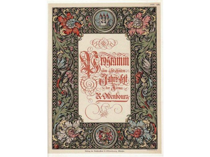 Programm zum achtzehnten Jahresfest der Firma R. Oldenbourg