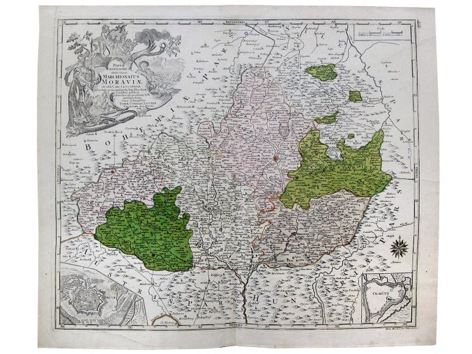 38 892 mappa geographica specialis marchionatus moraviae