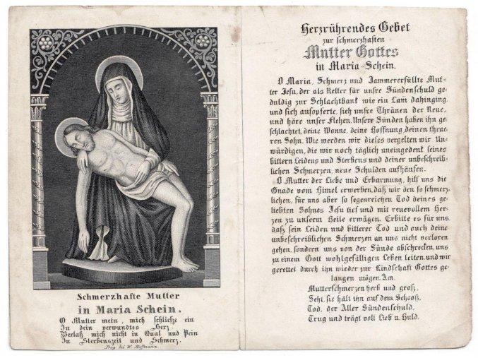 Schmerzhafte Mutter in Maria Schein