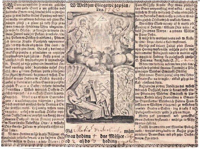 W Welkým Glogowě zapsán léta 1723