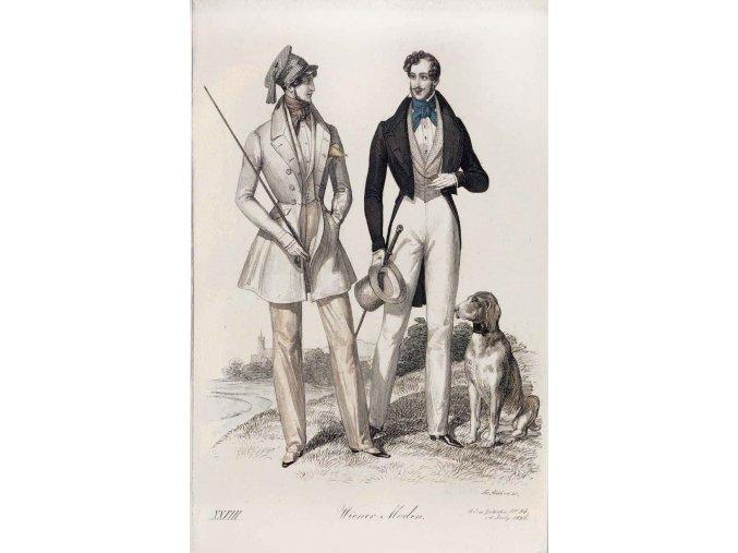 Dva muži s loveckým psem