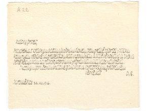 Dopis Otokaru Fischerovi