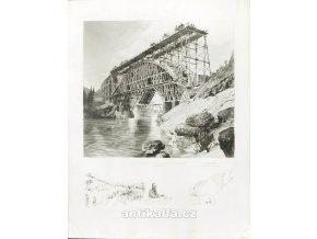 Bau der Salcansbrücke