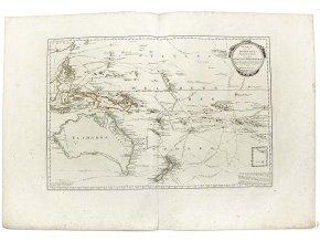 Karte von der Inselwelt, Polynesien
