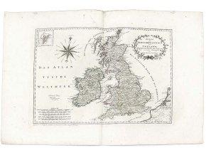 Karte von Grossbritannien und Ireland