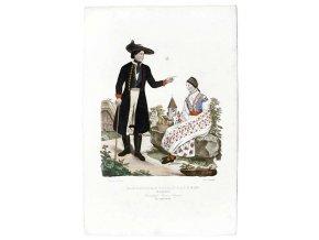 Manželé z panství Bzenec ve staropruském kroji