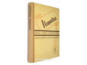 Kronika řemesel, obchodu, živností a výroby