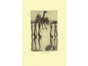 Pták na zábradlí