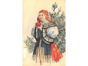 Krojačka u vánočního stromku