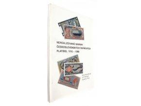360056 nerealizovane navrhy ceskoslovenskych papirovych platidel 1918 1988