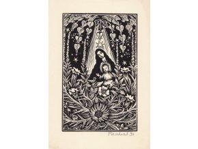 43 345 panna marie s jeziskem v kvetouci zahrade