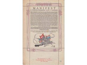 Manifest k československému ľudu v Amerike!