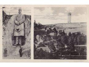 Socha prezidenta Masaryka s rozhlednou