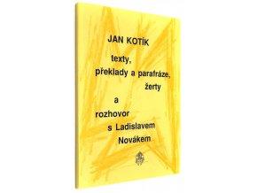 Texty, překlady a parafráze, žerty a rozhovor s Ladislavem Novákem
