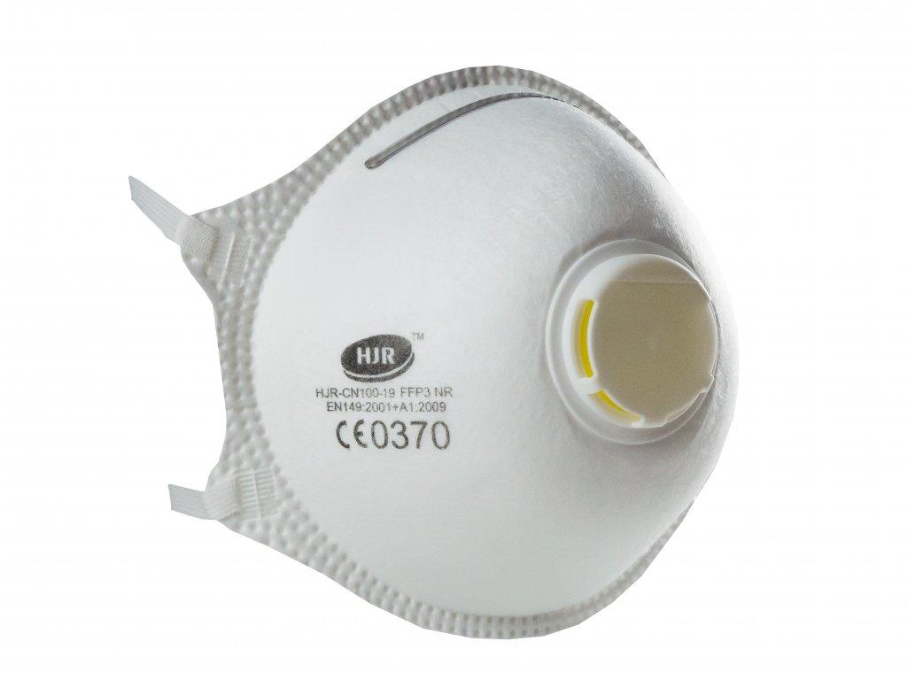 Respirátor HJR-19 FFP3 NR s předním výdechovým ventilem 1ks
