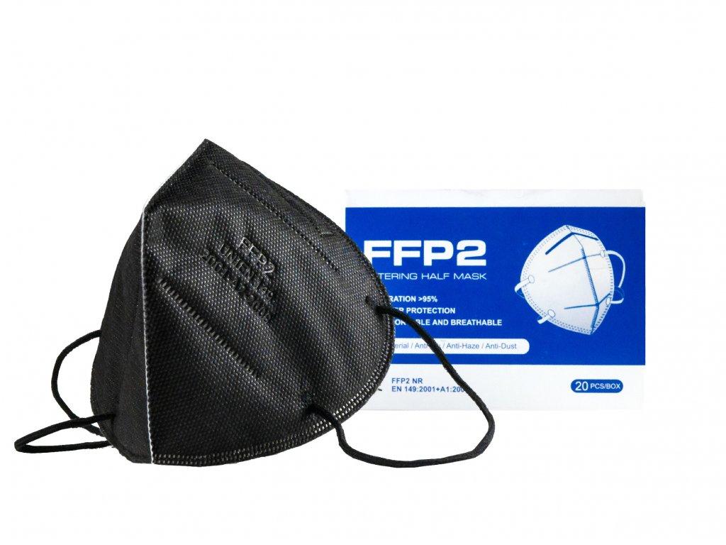 Respirátor FFP2 - černý - 20ks