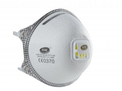Respirátor HJR-05 FFP3 NR s předním výdechovým ventilem 1ks