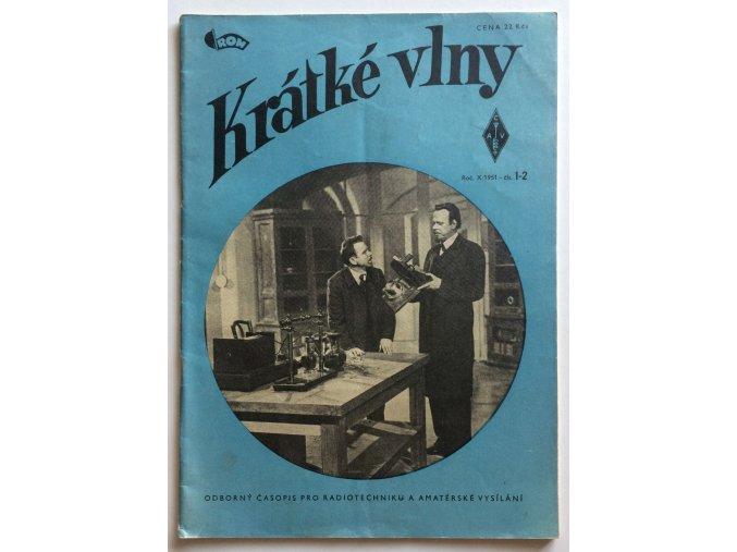 casopis kratke vlny 1 2 1951 rocnik 10 odborny casopis pro radiotechniku a amaterske vysilani (1)