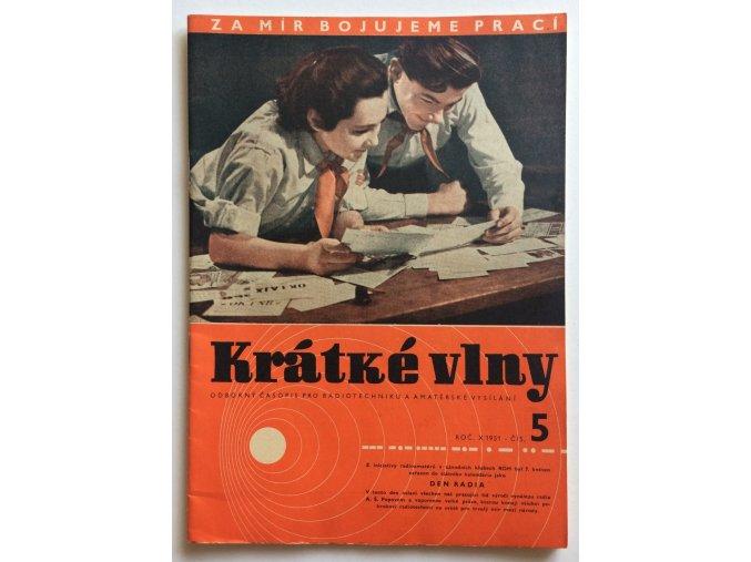 casopis kratke vlny 5 1951 rocnik 10 odborny casopis pro radiotechniku a amaterske vysilani (1)