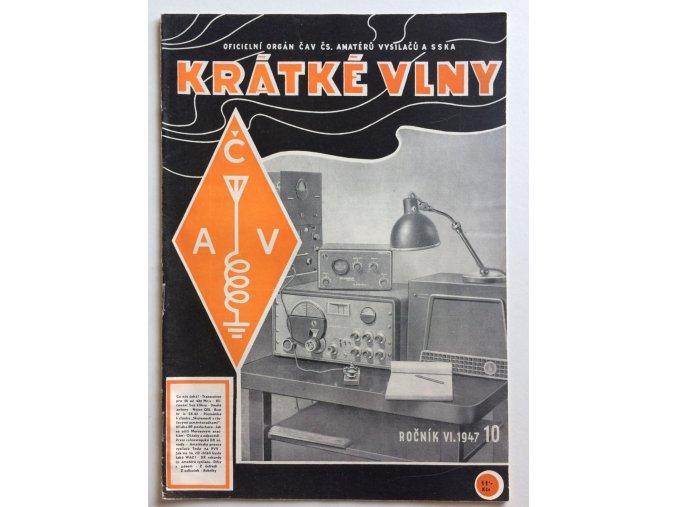 casopis kratke vlny 10 1947 rocnik 6 oficielni organ cav cs amateru vysilacu a sska (1)