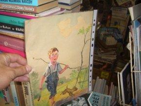 Chlapec na procházce - akvarel