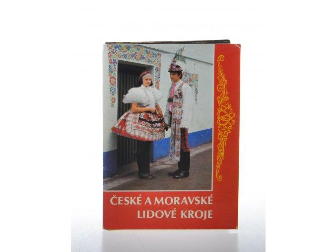 České a moravské lidové kroje: soubor 12 pohlednic