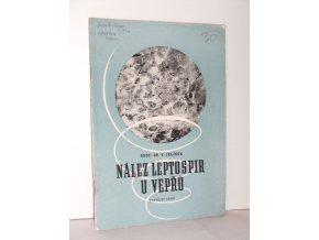 Nález leptospir u vepřů