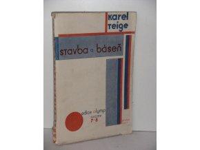 Stavba a báseň : Umění dnes a zítra : 1919-1927