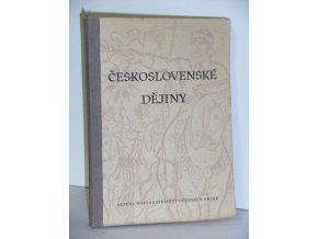 Československé dějiny pro 4. třídu gymnasií a vyšších odborných škol