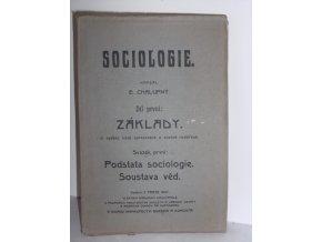 Sociologie. Díl první, Základy