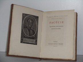Facécie : Poggii Florentini, oratoris facundissimi, Facetiarum aureus libellus