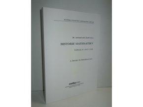 36. mezinárodní konference Historie Matematiky, Poděbrady