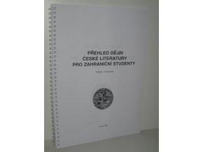 Přehled dějin české literatury pro zahraniční studenty