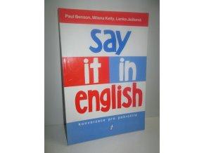 Say it in English : konverzace pro pokročilé