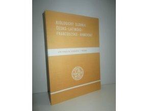 Biologický slovník česko-latinsko-francouzsko-khmérský