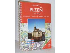 Plzeň - plán města a okolí