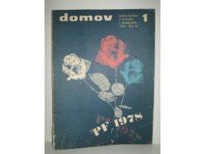 Časopis Domov 1/1978