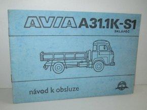 AVIA A31.1K-S1 sklápěč (návod k obsluze)