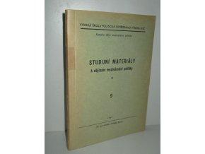 Studijní materiály k dějinám mezinárodní politiky