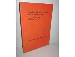26.aukce výtvarného umění Aukční dům Greisen (bibliografie,fotografie,plakáty)