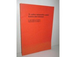15.aukce výtvarného umění Aukční dům Greisen (bibliografie,fotografie,plakáty,grafiky a kresby)