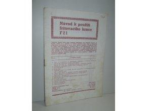 Návod k použití fritovacího hrnce F2l