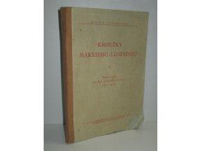 Kroužky marxismu-leninismu : Učební texty pro r. stranického školení 1951-1952