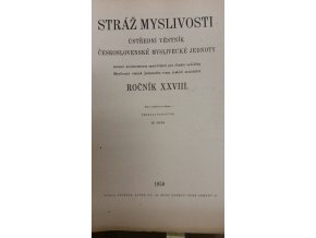 Stráž myslivosti ročník XXVIII.