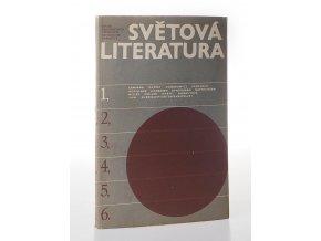 Světová literatura - revue zahraničních literatur. čís.1