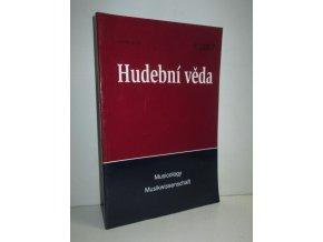 Hudební věda,Musicology,Musikwissenschaft: ročník XLIV čís.1
