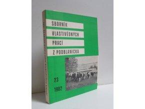 Sborník vlastivědných prací z Podblanicka 23