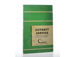Cutanit Service : A New Guide for Machinist to Increased Production