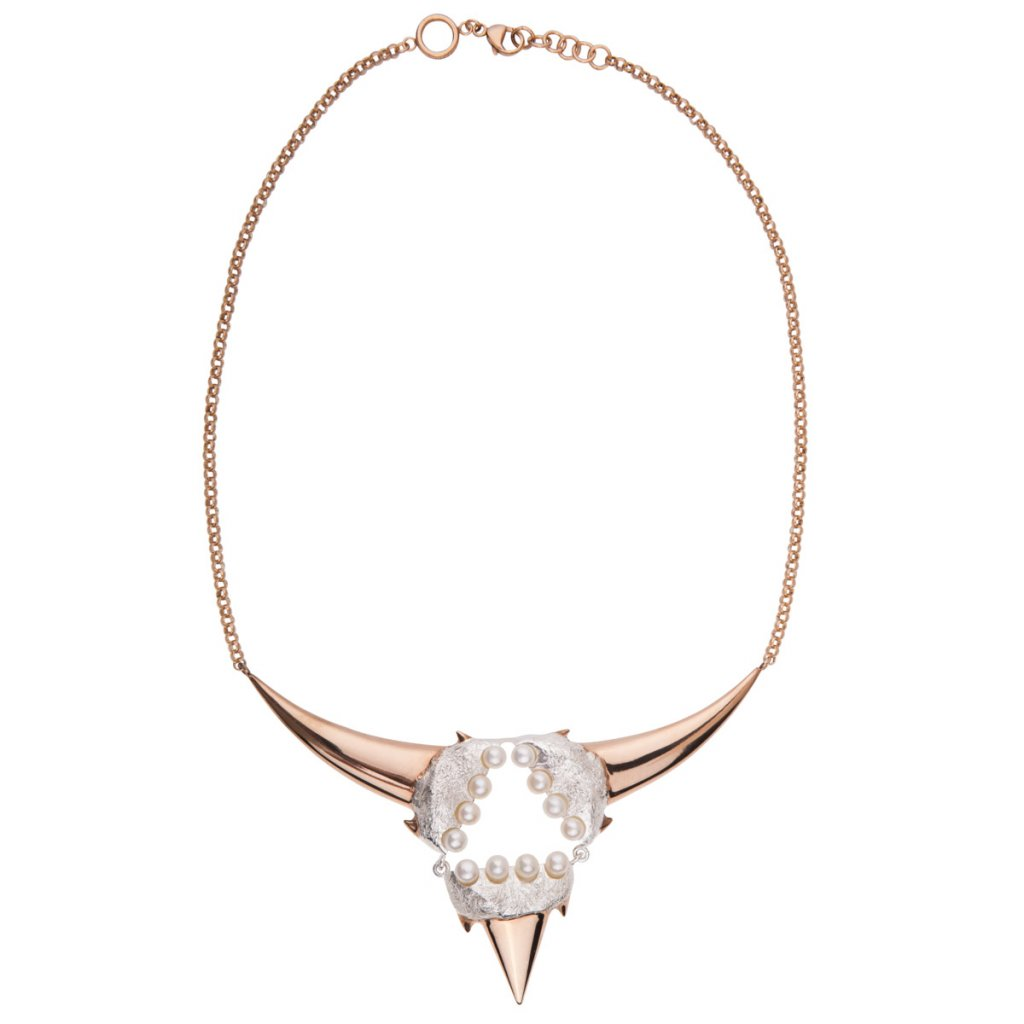 Triangle necklace-silver/gold