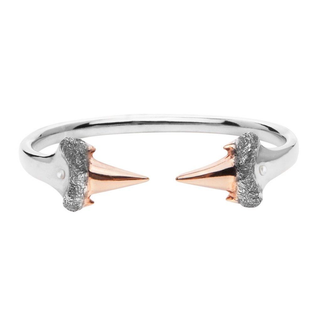 Blacktip bracelet-silver/gold